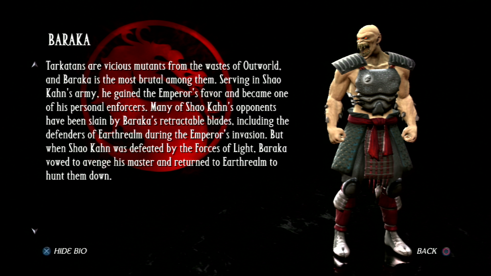 Барака - Mortal Kombat vs. DC Universe Персонаж