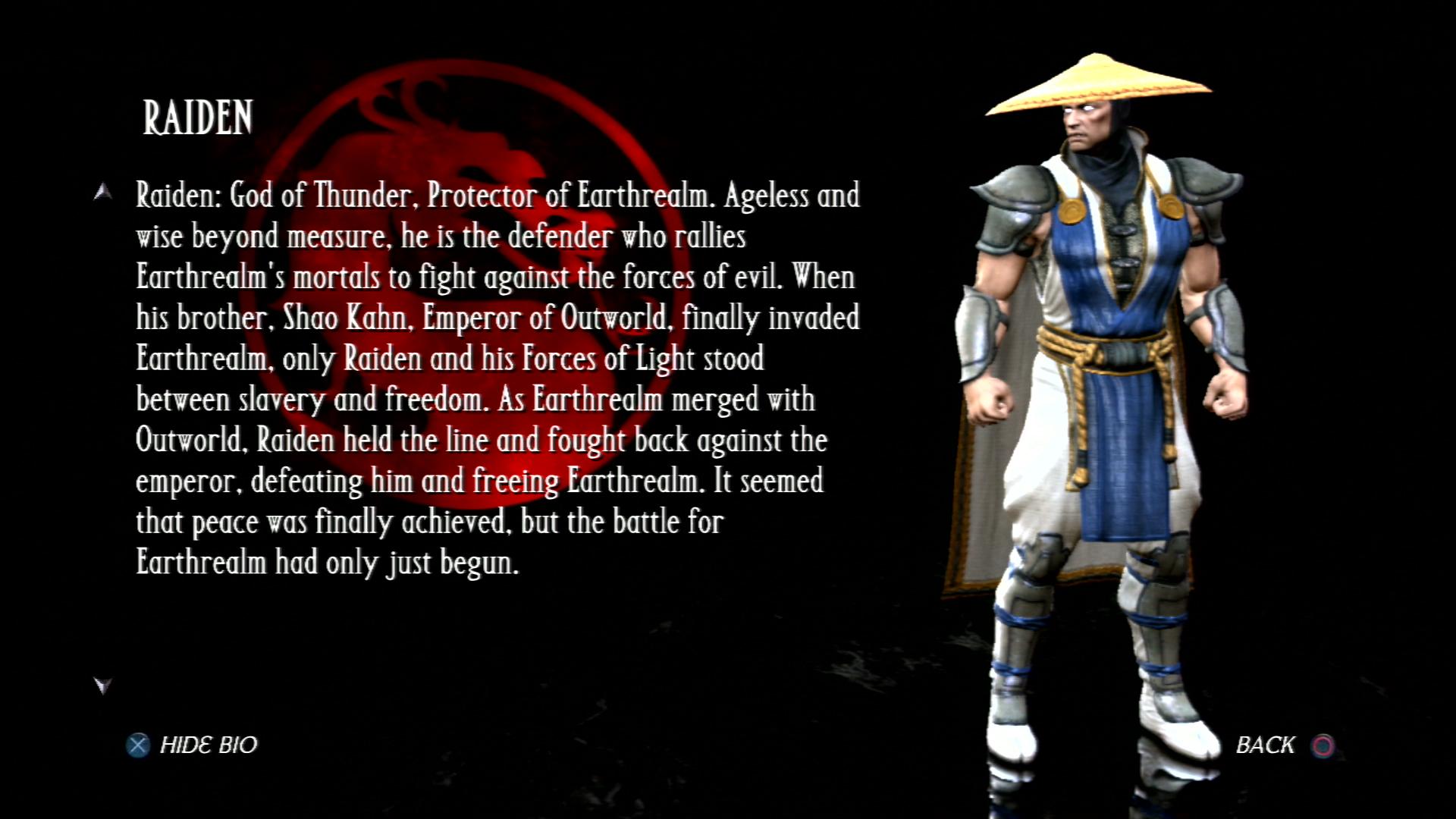 Райден - Mortal Kombat vs. DC Universe Персонаж