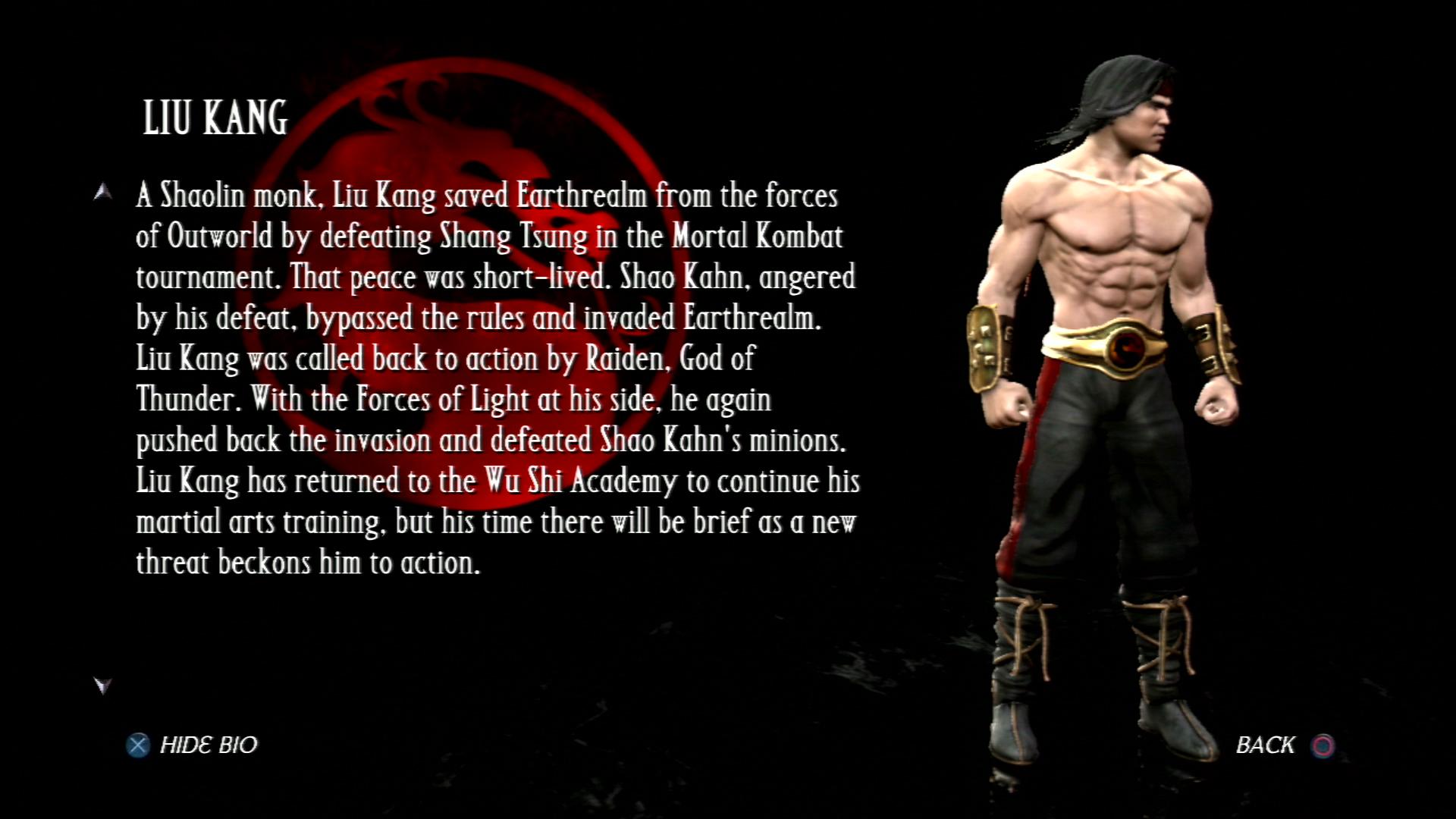 Лю Кан - Mortal Kombat vs. DC Universe Персонаж