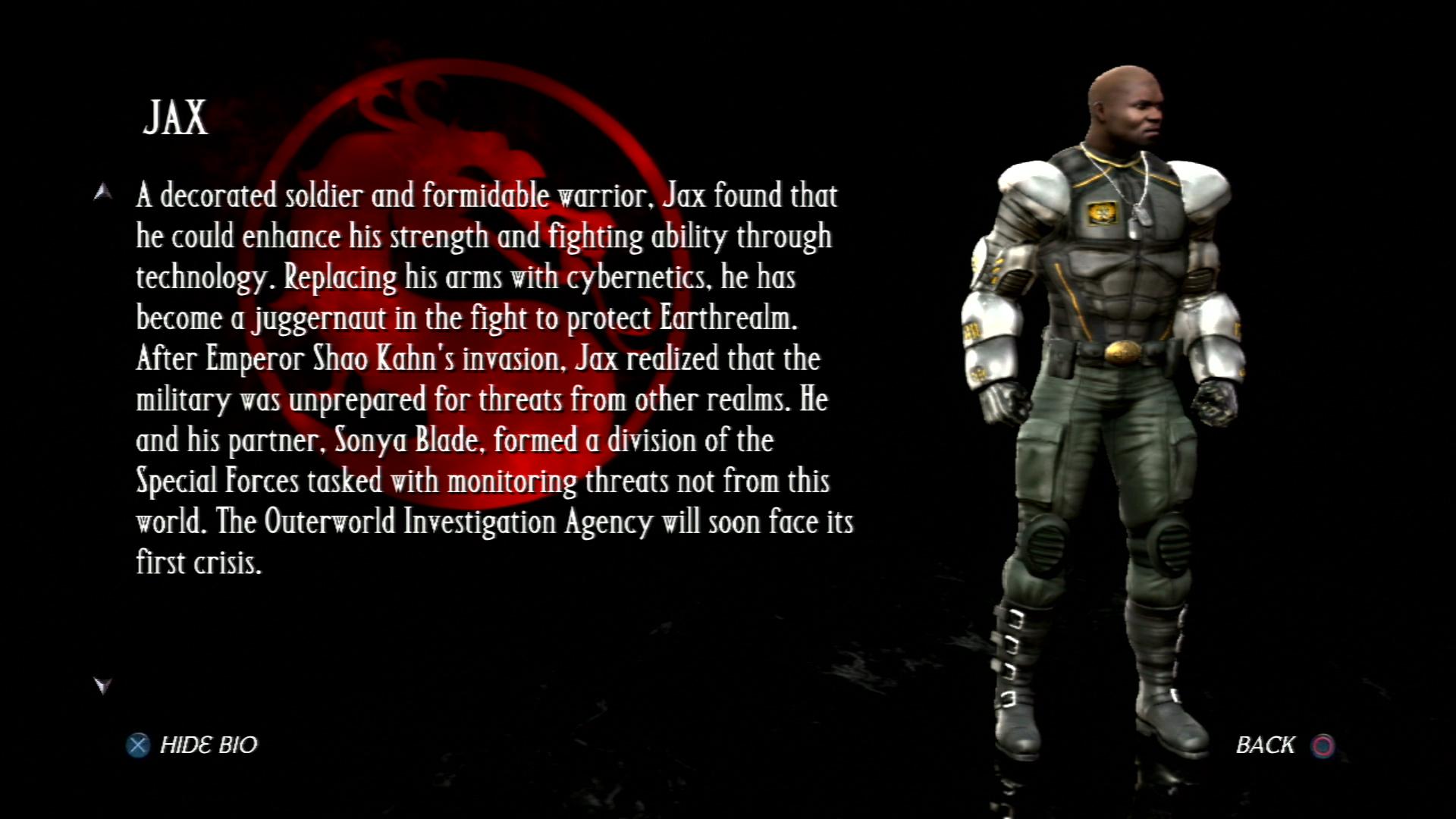 Джакс - Mortal Kombat vs. DC Universe Персонаж