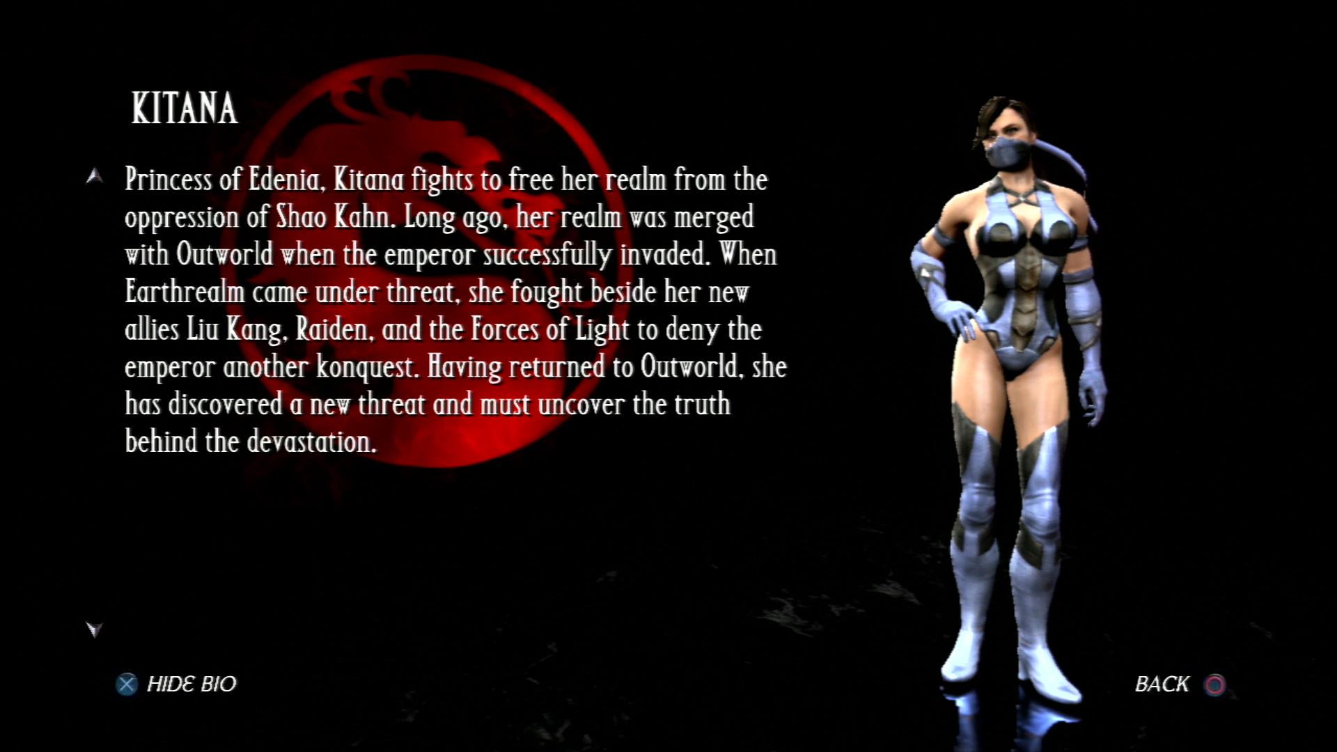 Китана - Mortal Kombat vs. DC Universe Персонаж