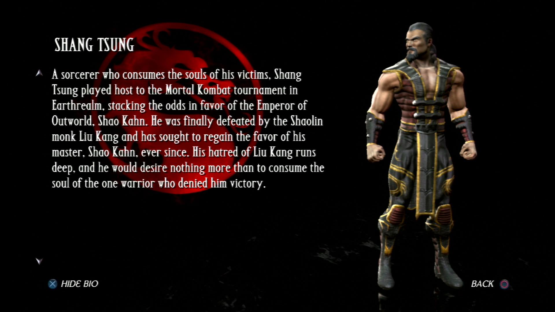 Шан Цзун - Mortal Kombat vs. DC Universe Персонаж