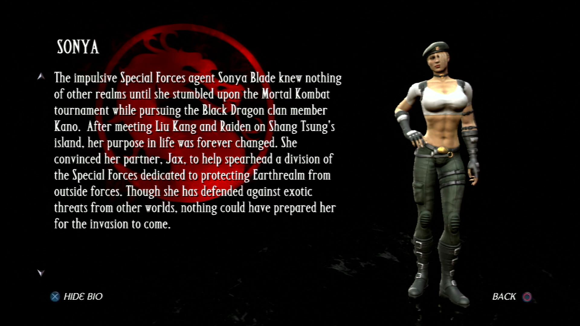 Соня Блейд - Mortal Kombat vs. DC Universe Персонаж