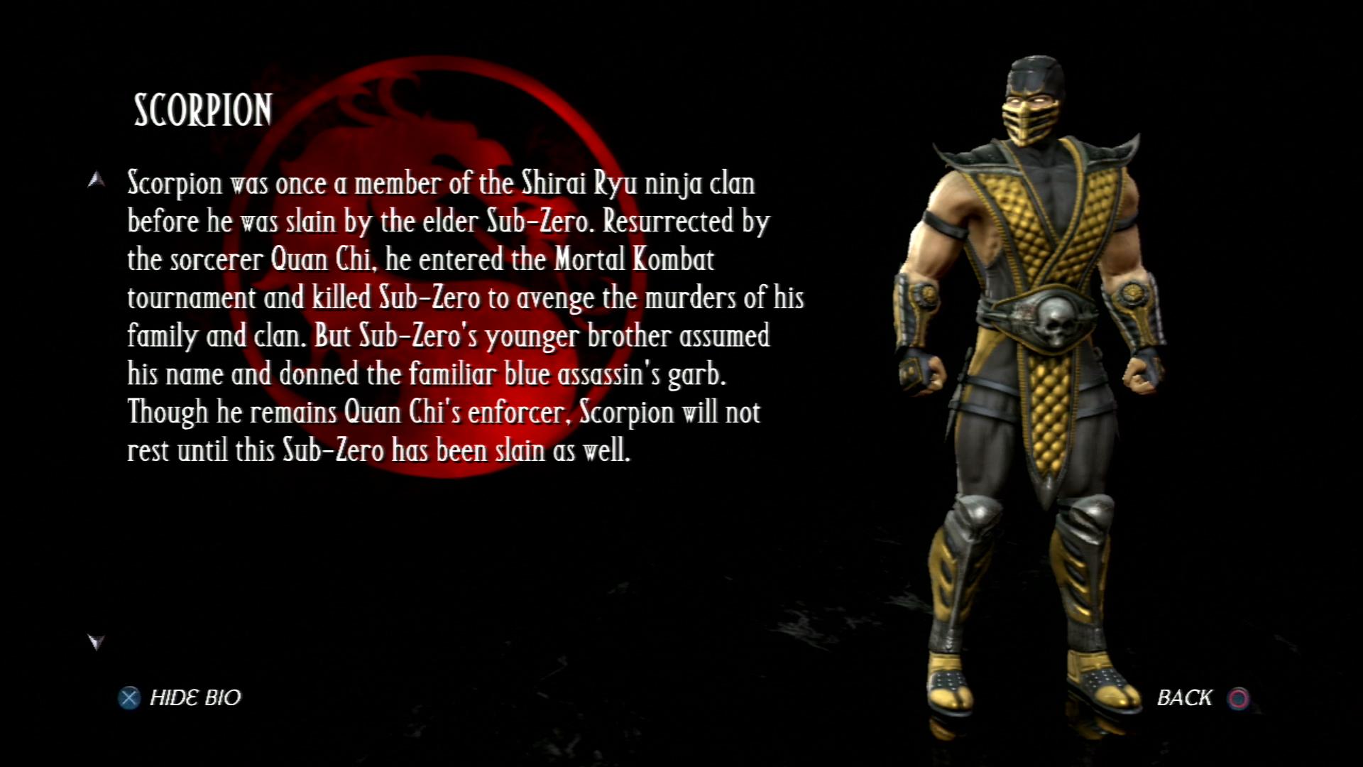 Скорпион - Mortal Kombat vs. DC Universe Персонаж