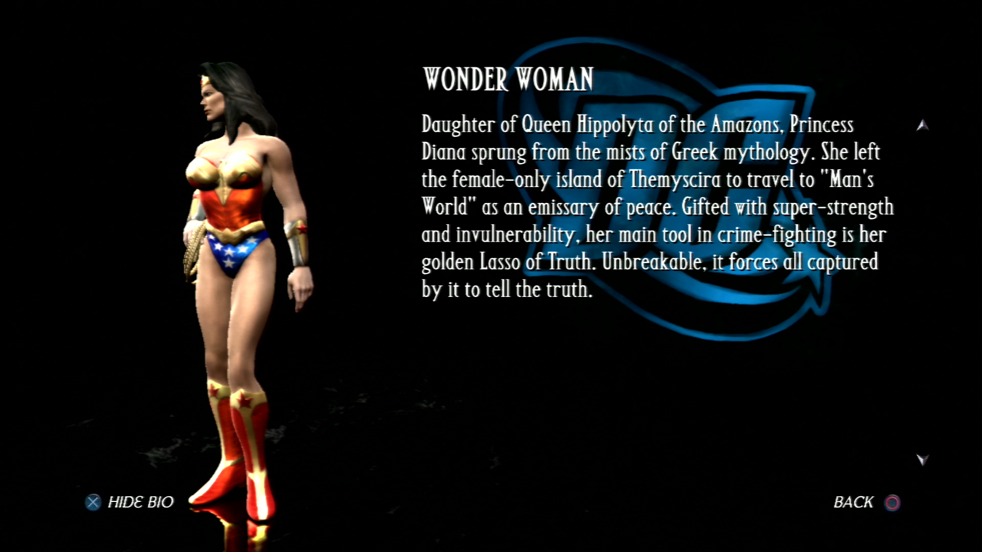 Чудо-женщина - Mortal Kombat vs. DC Universe Персонаж