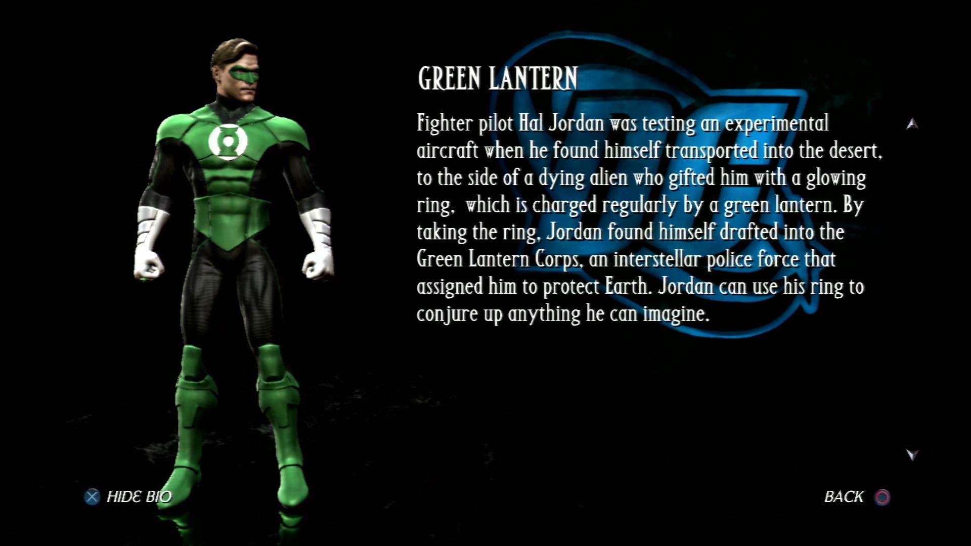 Зелёный фонарь - Mortal Kombat vs. DC Universe Персонаж
