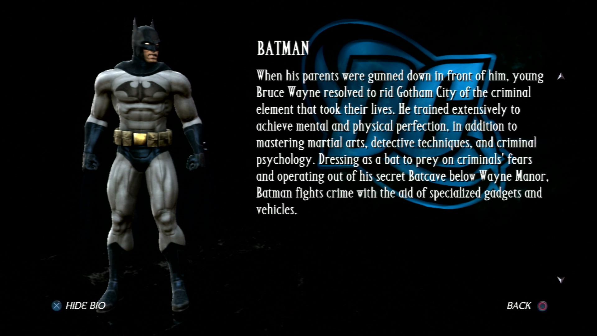Бэтмен - Mortal Kombat vs. DC Universe Персонаж