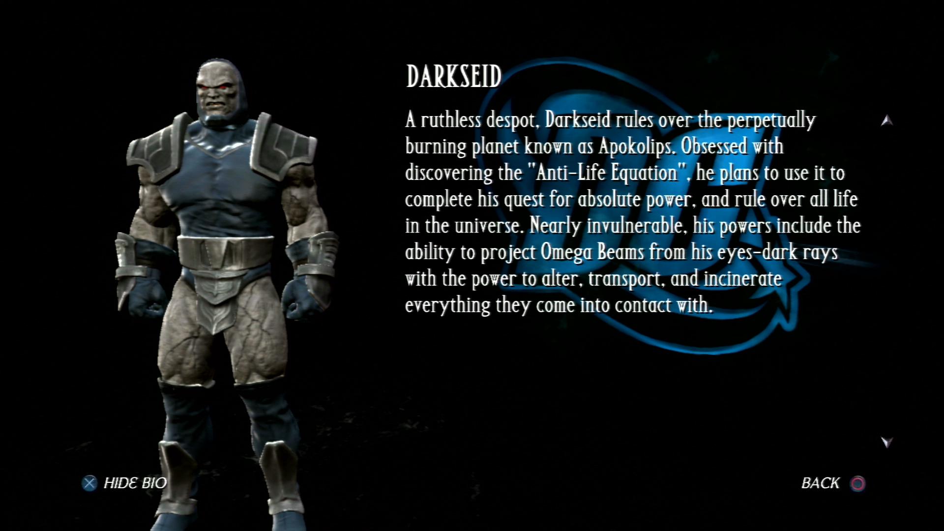 Дарксайд - Mortal Kombat vs. DC Universe Персонаж