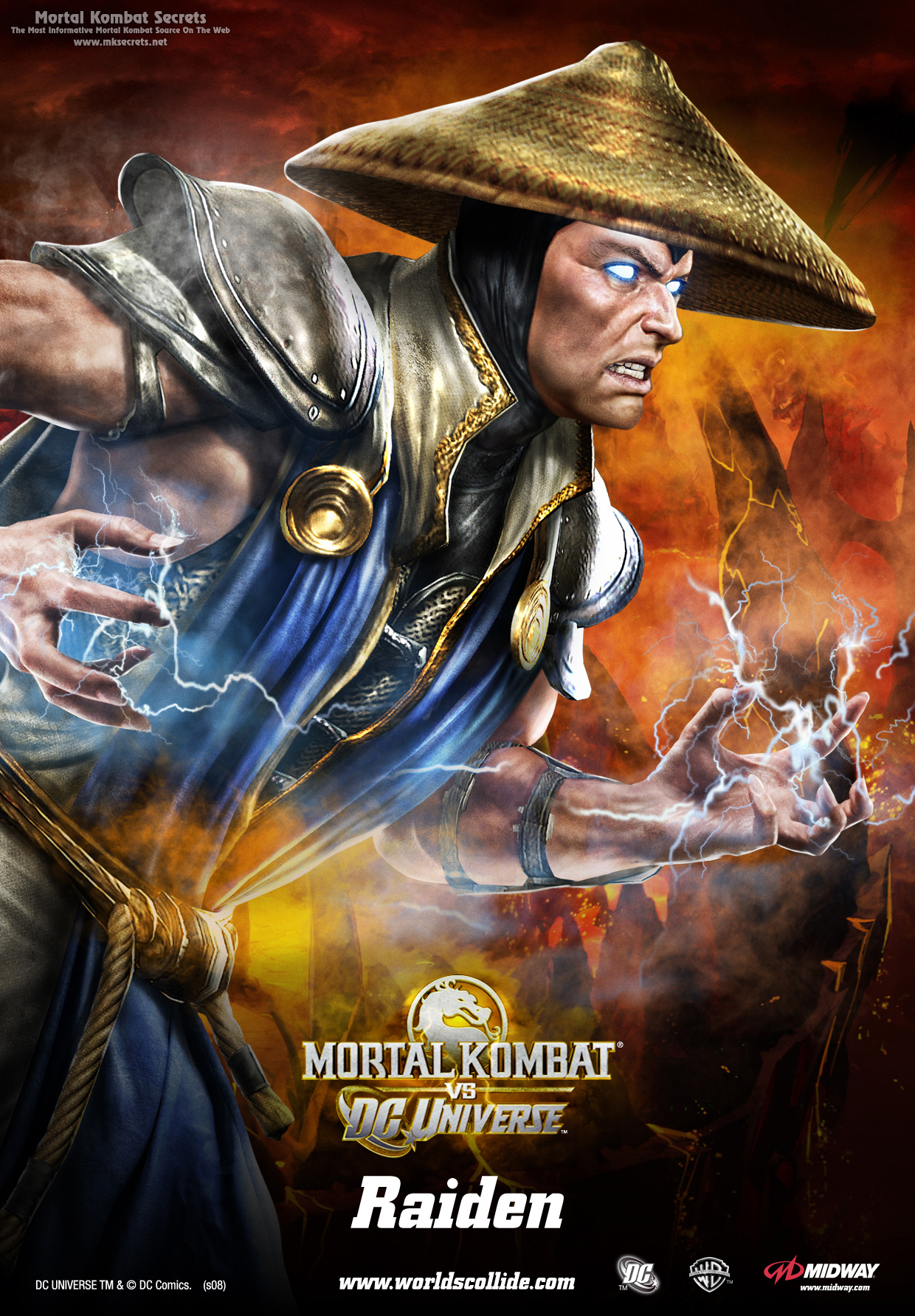 Райден - Mortal Kombat vs. DC Universe Арт