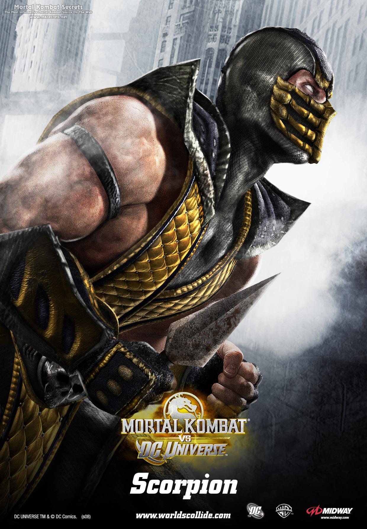 Скорпион - Mortal Kombat vs. DC Universe Арт