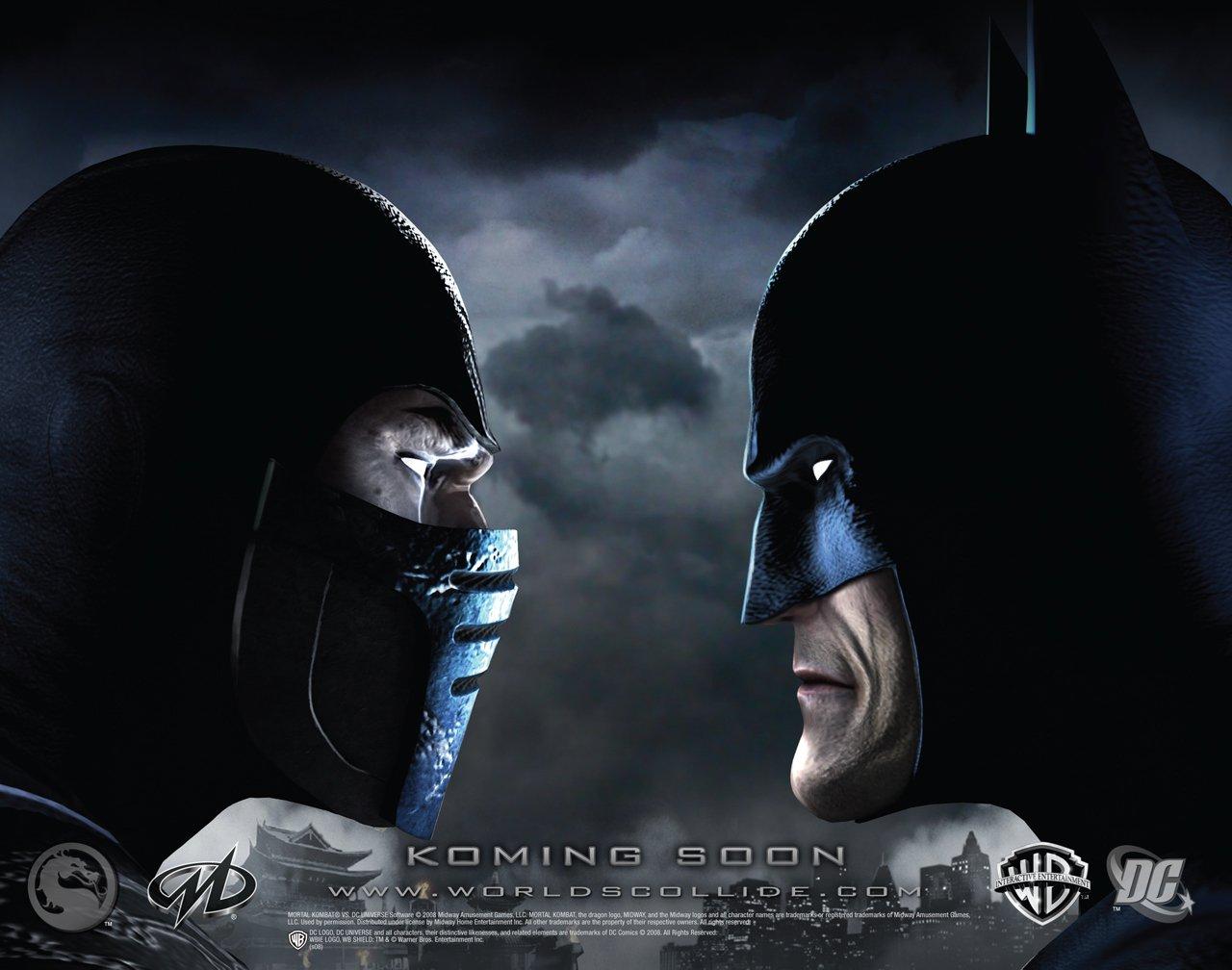 Саб-Зиро vs Бэтмен - Mortal Kombat vs. DC Universe Арт