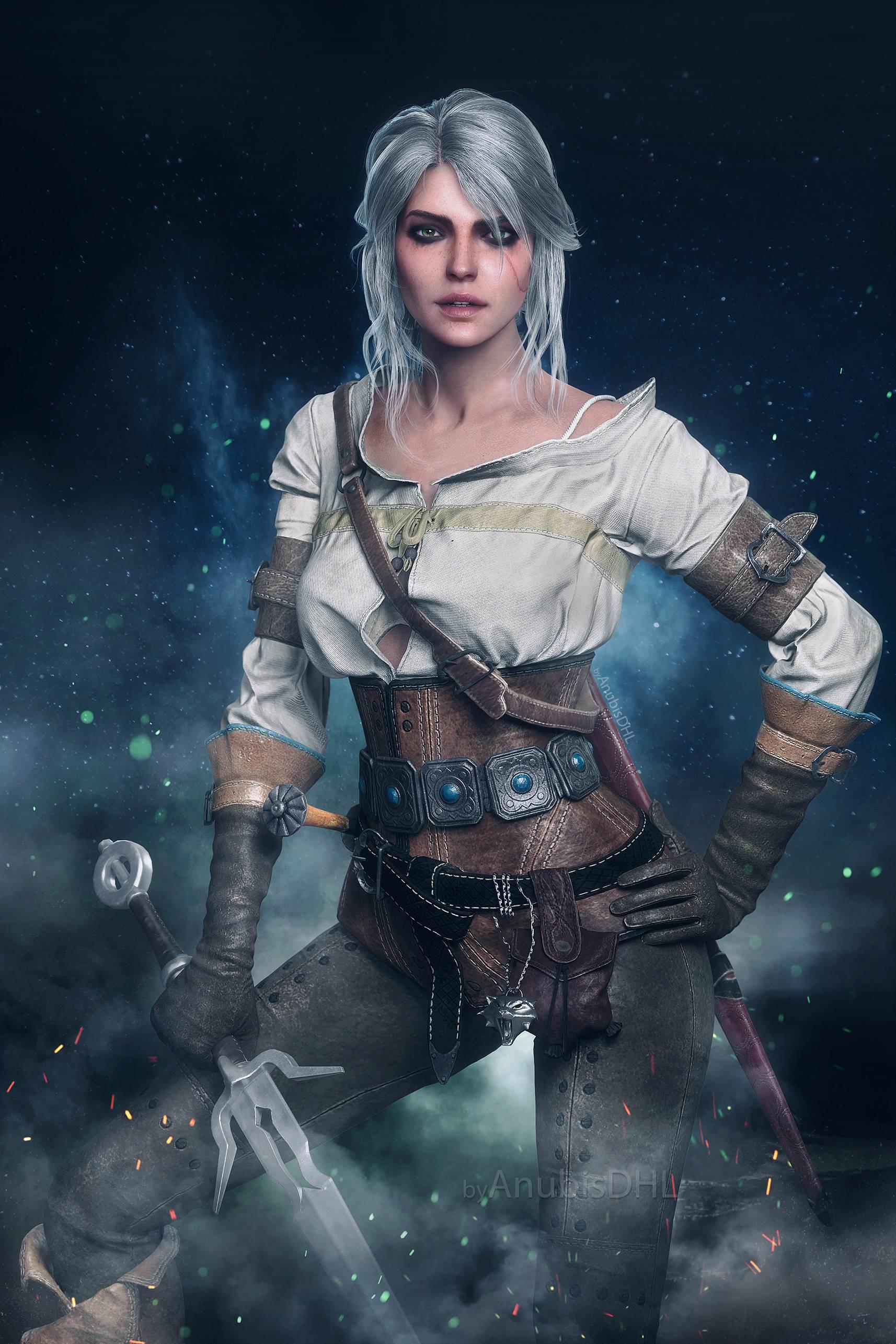 Цири - Witcher 3: Wild Hunt, the арт, персонаж