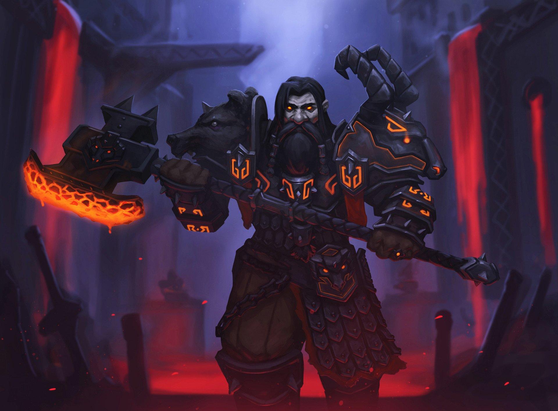 World of Warcraft: Battle for Azeroth Дворф Черного железа - World of Warcraft Арт, Дворф