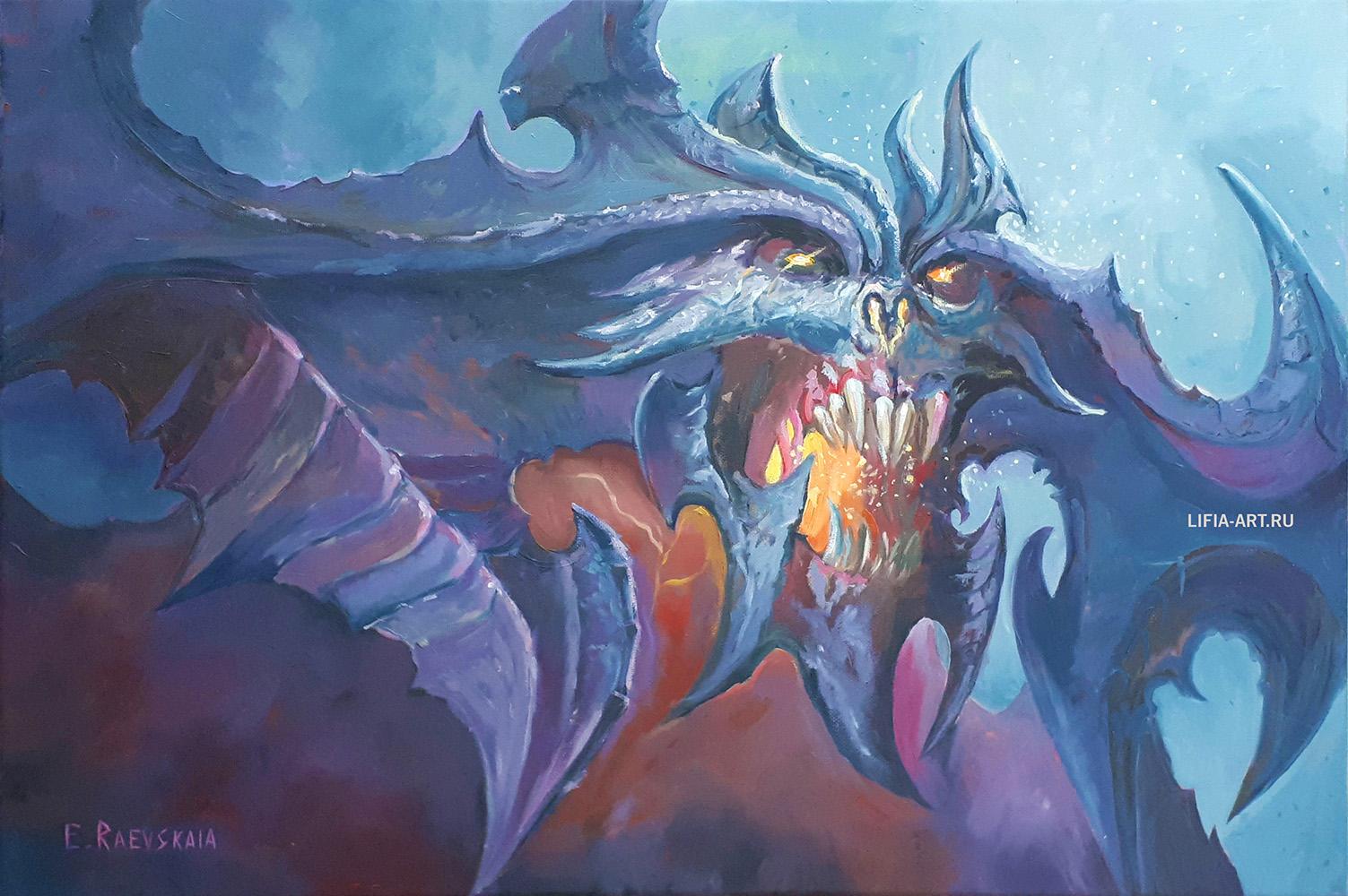 «К нашему несчастью, из всех Изначальных Зол мы больше всего знаем о Владыке Ужаса, Аль'Диаболосе; чаще его именуют Диабло. Он суть корень всех страхов, глубоко сокрытых в смертных умах, кошмар, пробуждающий нас в холодном поту среди ночи. Он — - Diablo 3