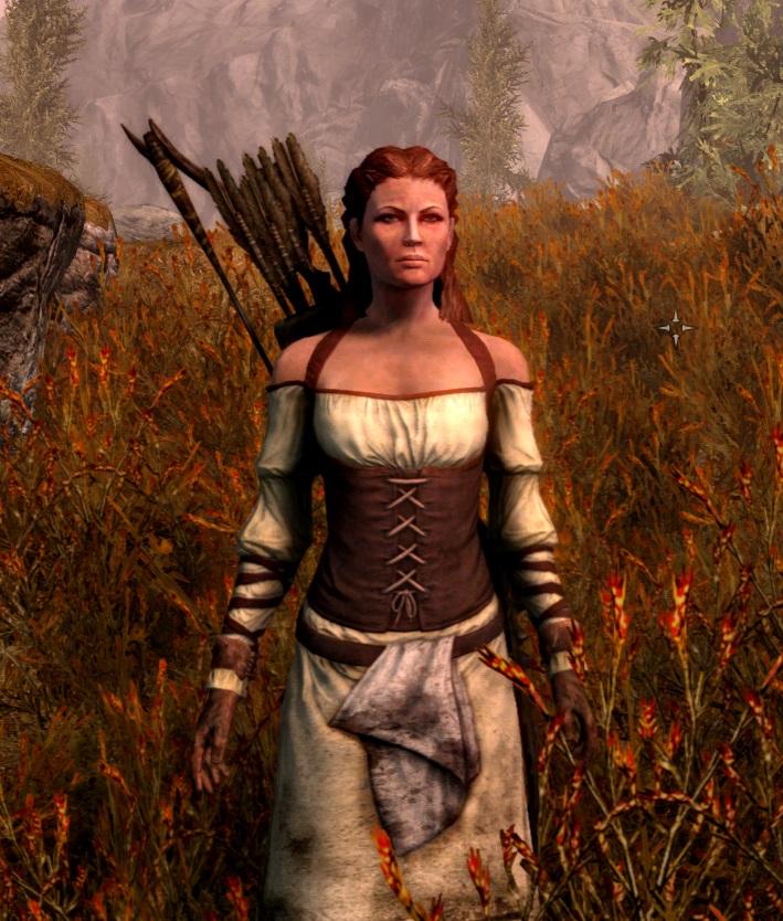 Довакинша после охоты на оленей - Elder Scrolls 5: Skyrim, the