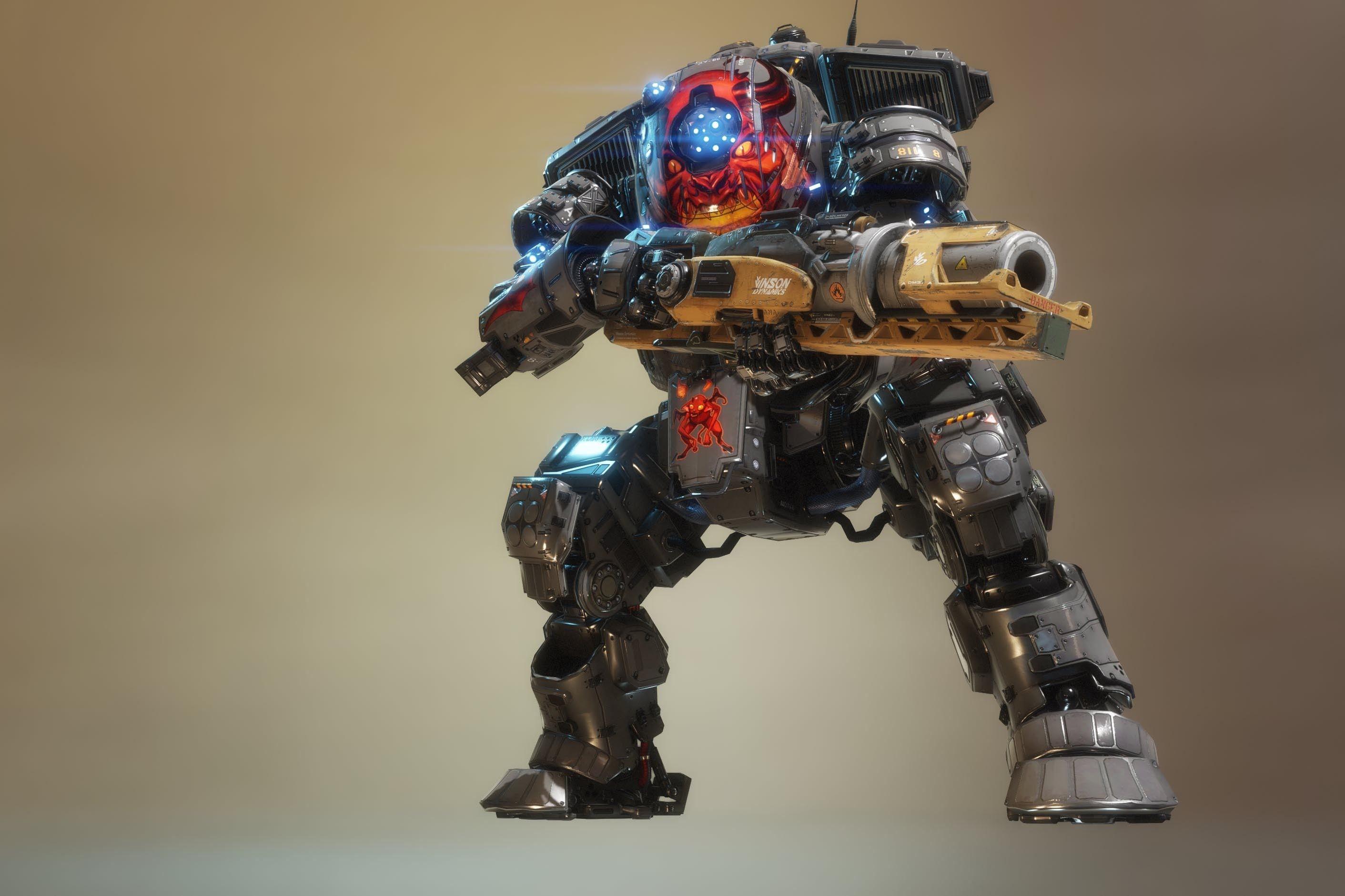 Скорч - Titanfall 2 2K, Арт, Титан