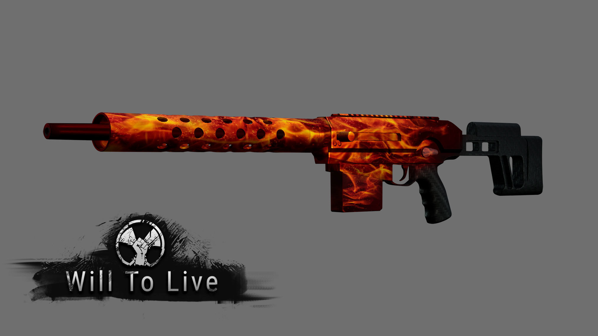 Оружие с кастомной покраской - Will To Live Online Арт