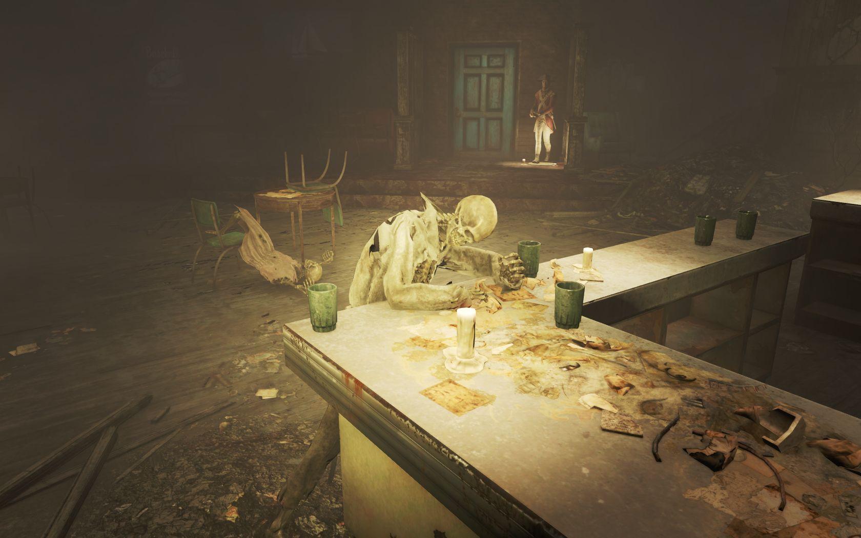 Бар 'За ваше здоровье!' 3 - Fallout 4 Скелет, Юмор