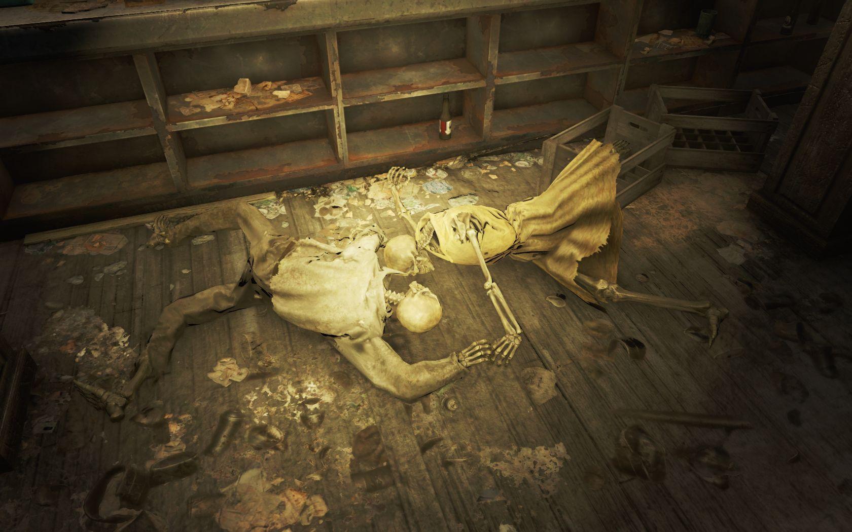 Бар 'За ваше здоровье!' 4 - Fallout 4 Скелет, Юмор