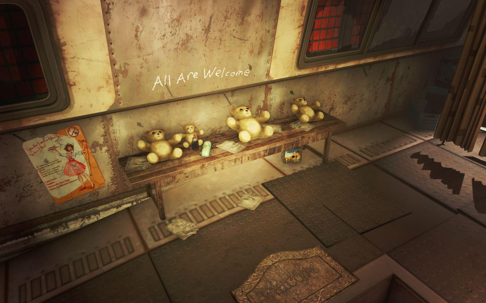 Гостеприимные мишки (Тоннель Масс-Пайк) v2 - Fallout 4 Юмор