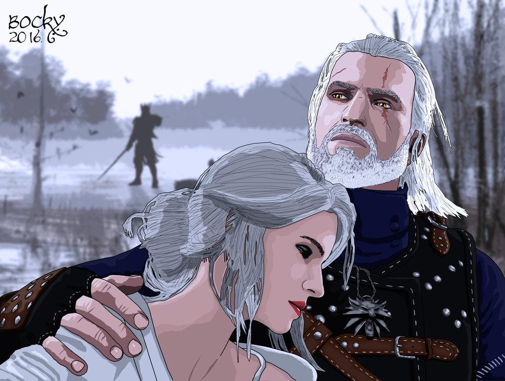 geralt_and_ciri_by_bockybp-dapxapw.jpg - Witcher 3: Wild Hunt, the