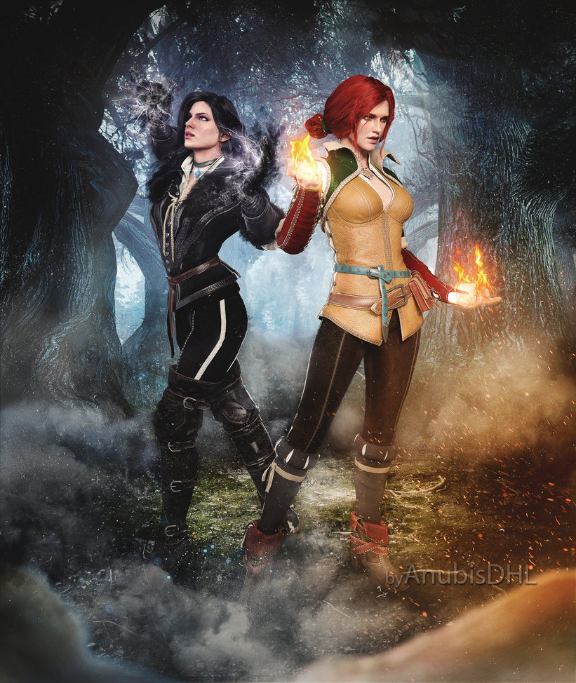 triss_and_yenn_by_anubisdhl-d9sutw9.jpg - Witcher 3: Wild Hunt, the