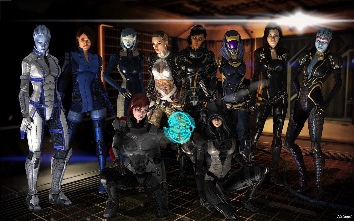 Девушки Mass Effect - Mass Effect арт, персонаж
