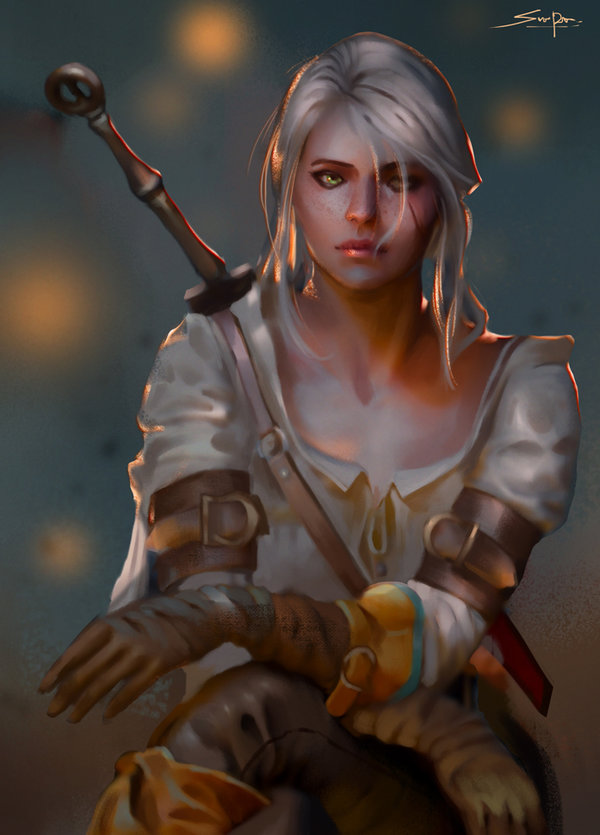 ciri_by_ron_faure-d926u44.jpg - Witcher 3: Wild Hunt, the