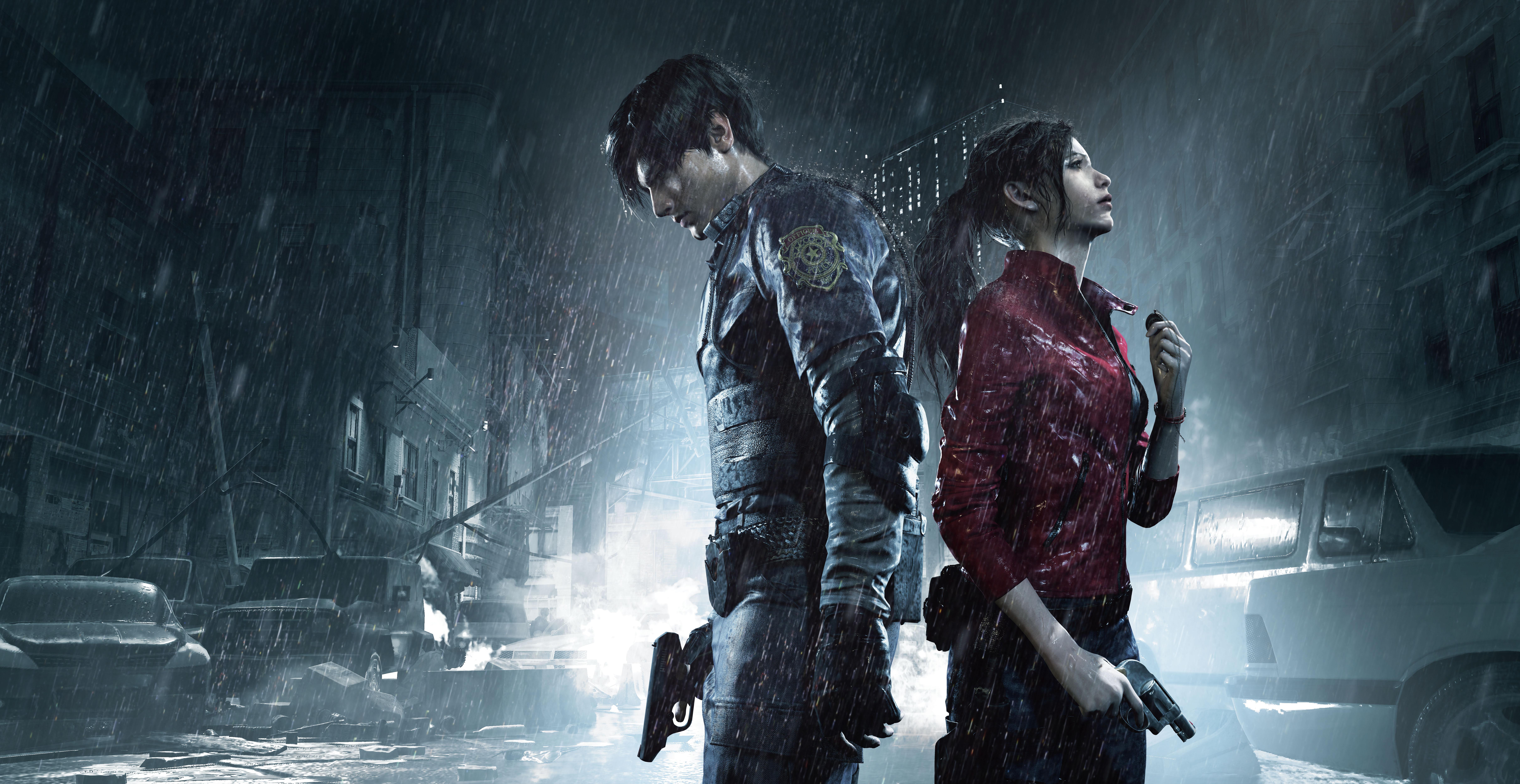 Леон и Клэр - Resident Evil 2 10K, Арт