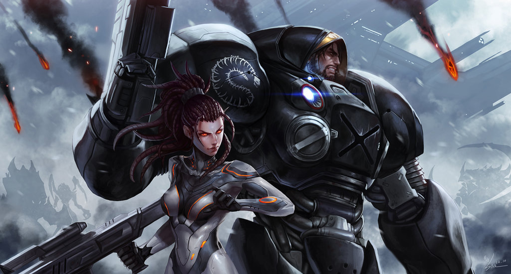 kerrigan_n_jim_raynor_by_siakim-d5vh12r.jpg - StarCraft 2: Wings of Liberty