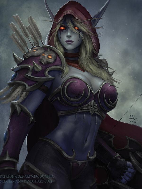 sylvanas_windrunner___wow__hots_version__by_sciamano240-db58m7k.jpg - World of Warcraft