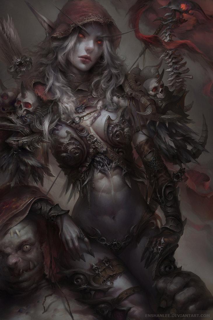 sylvanas_windrunner_by_enshanlee-db9ag0u.jpg - World of Warcraft