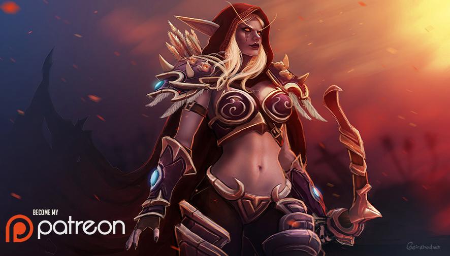 ladysylvanaswindrunner_low_by_geirahod-dcjq7k3.jpg - World of Warcraft