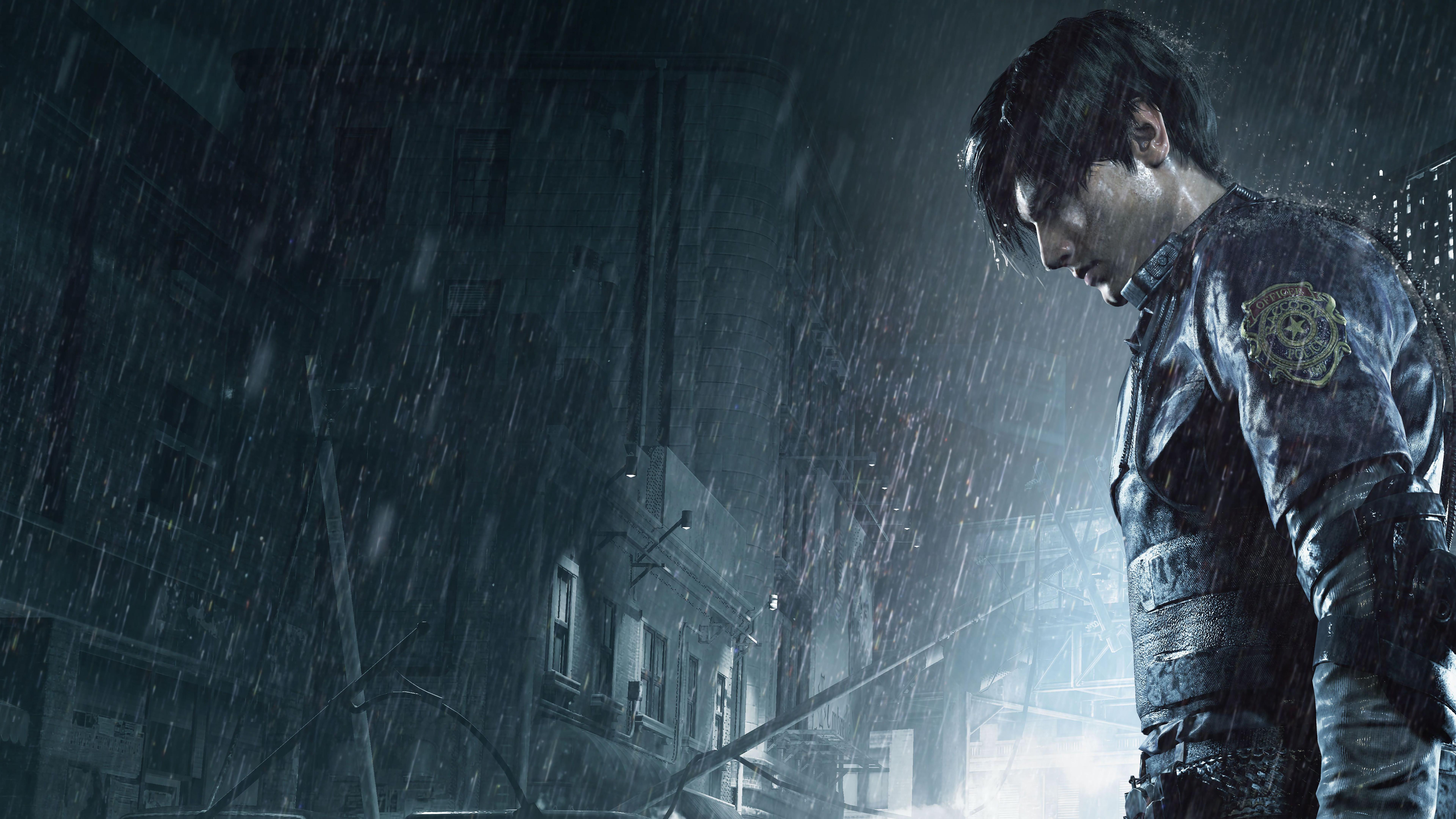 Леон - Resident Evil 2 8K, Арт