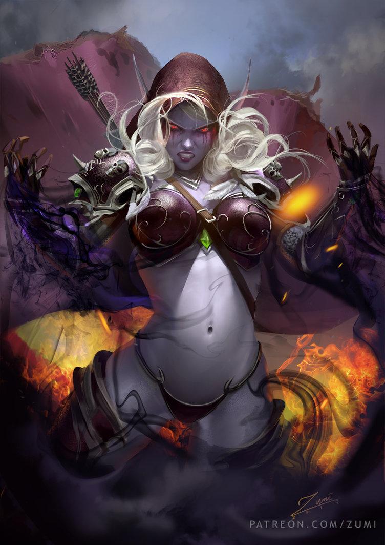 sylvanas_by_zumidraws-dbtnu2a.jpg - World of Warcraft