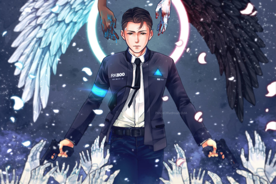 by PrinceOfRedroses - Detroit: Become Human Арт