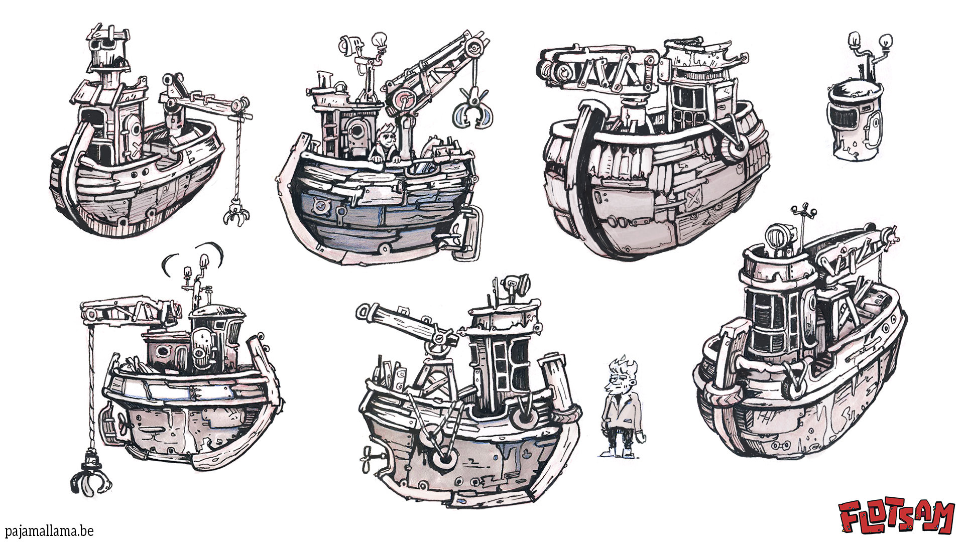 Буксирное судно - Flotsam Арт