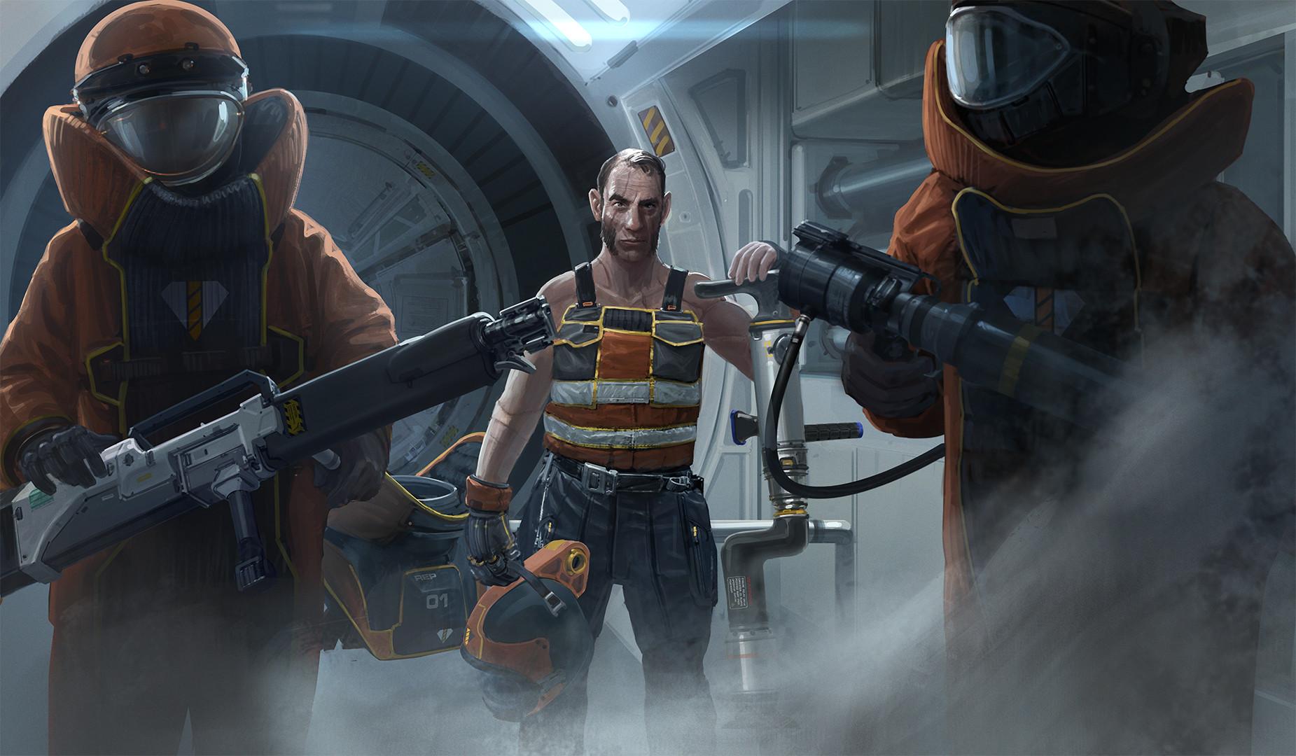 Группа ремонта - Fractured Space Арт