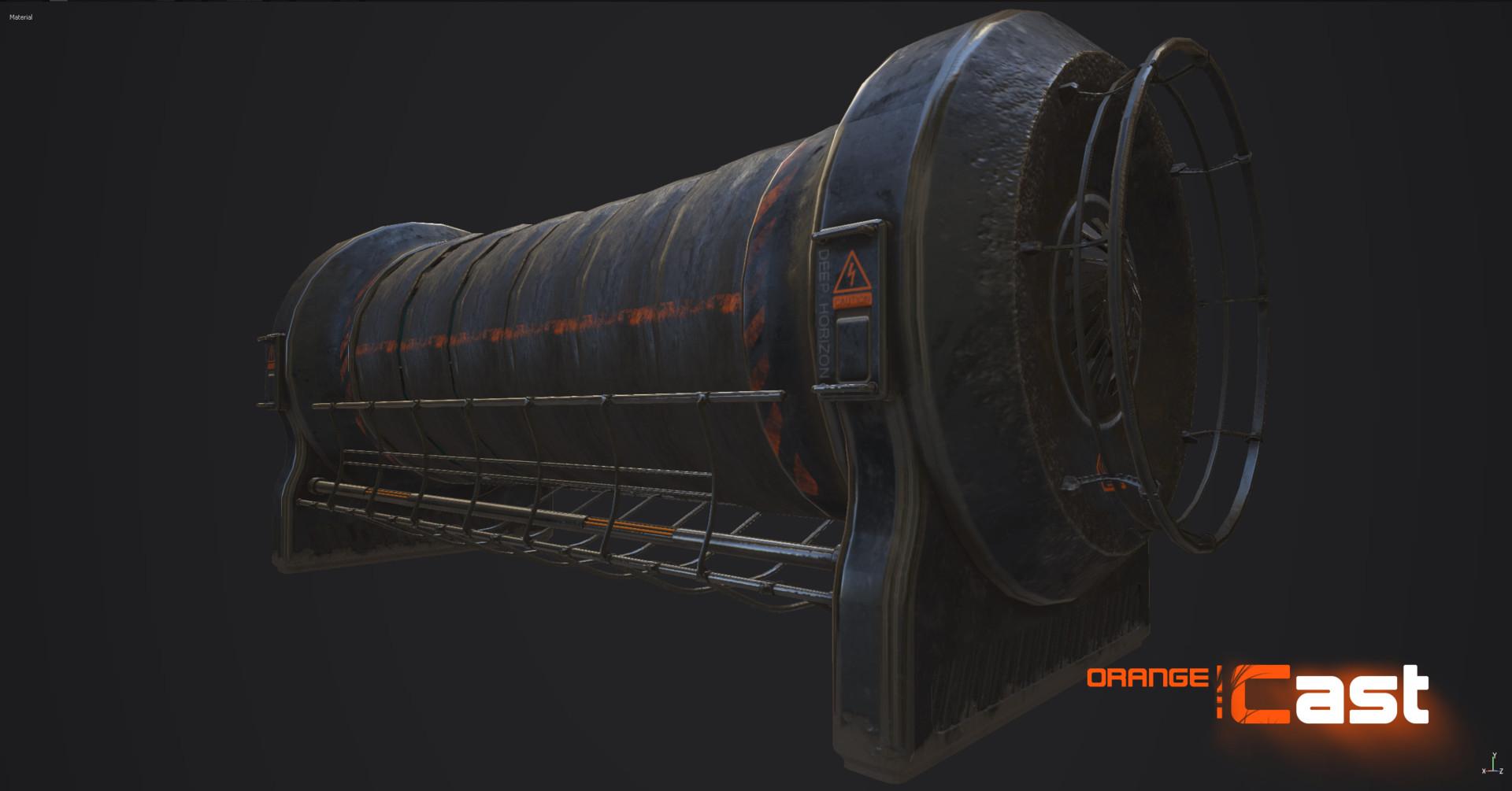Плазменный генератор - Orange Cast Рендер