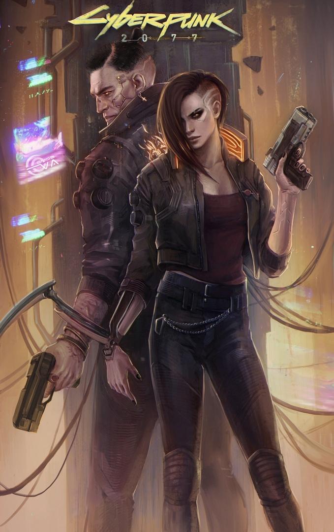 by Eva Kosmos - Cyberpunk 2077 Арт