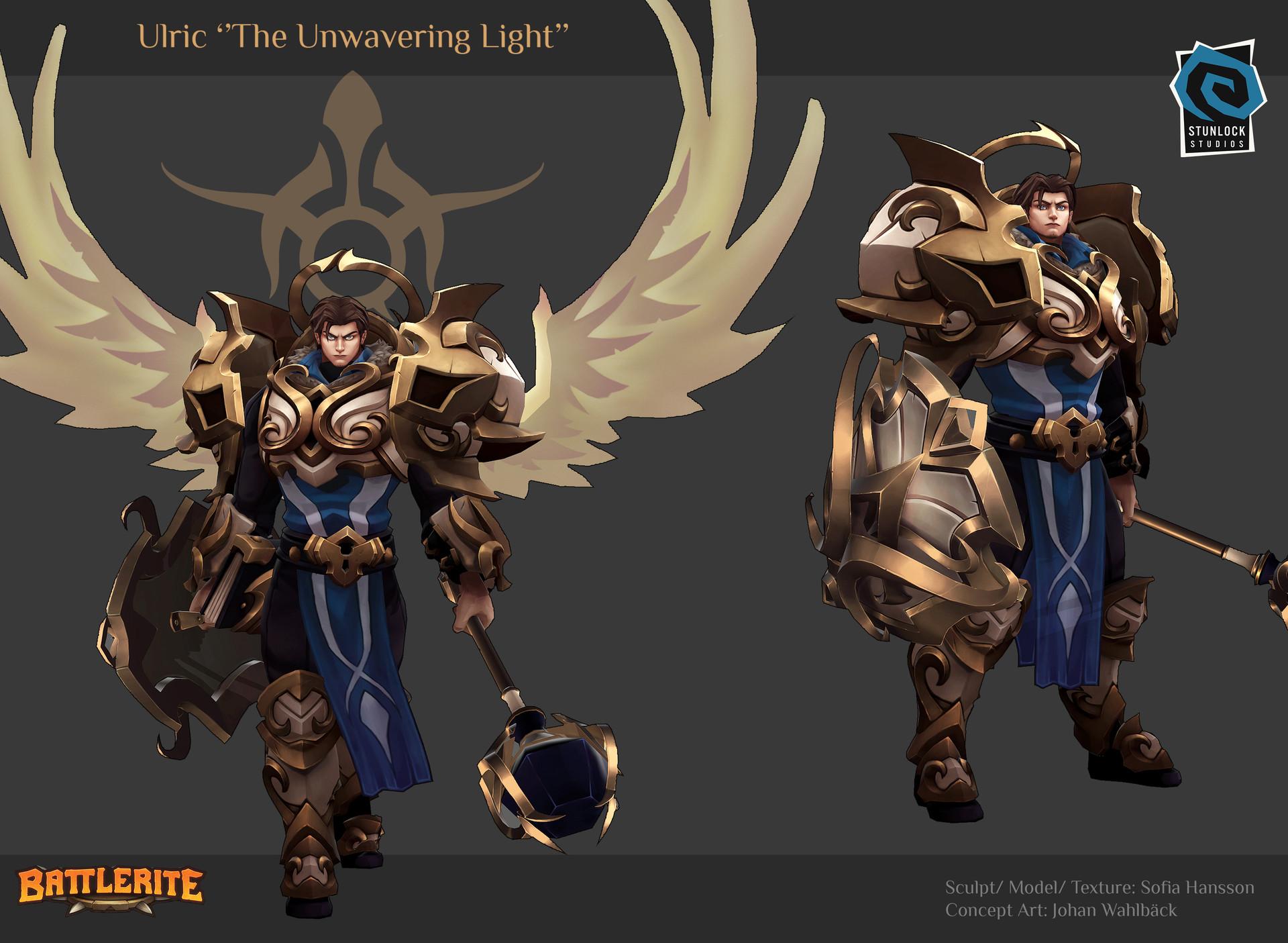 Ulric, The Unwavering Light - Battlerite Арт