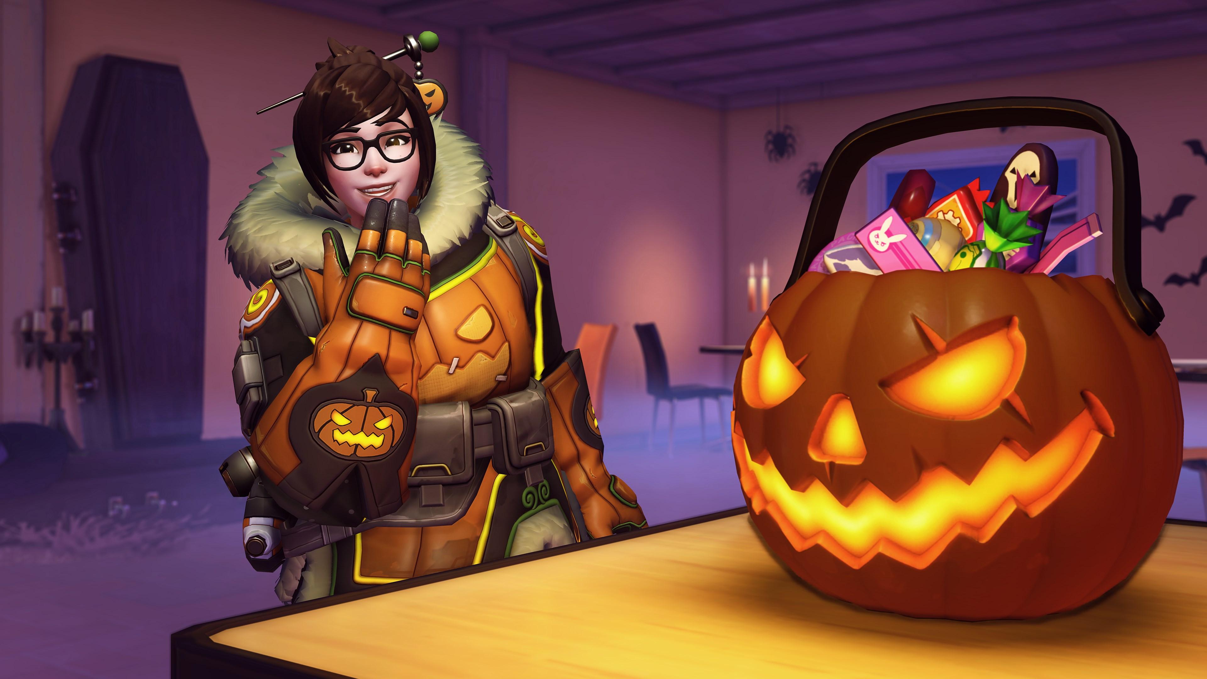 Хеллоуин - Overwatch 4K