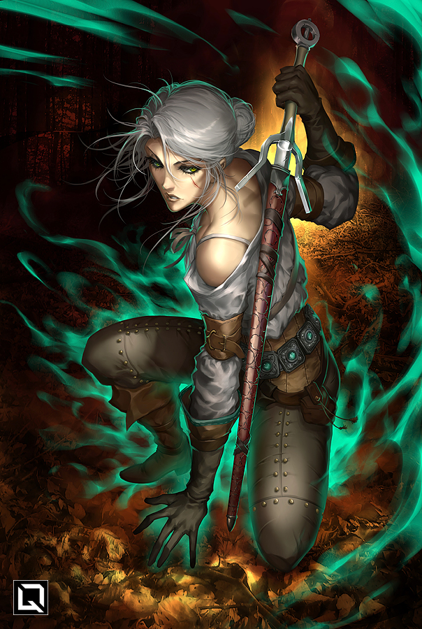 lady_of_space_and_time_by_quirkilicious-dcnudr8.jpg - Witcher 3: Wild Hunt, the