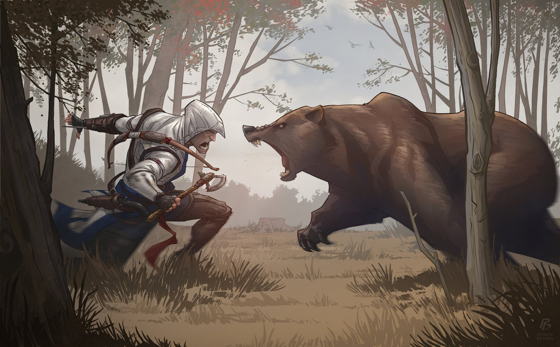 assassin__s_creed_3_bear_attack_by_patrickbrown-d5ip4lp.jpg - Assassin's Creed 3