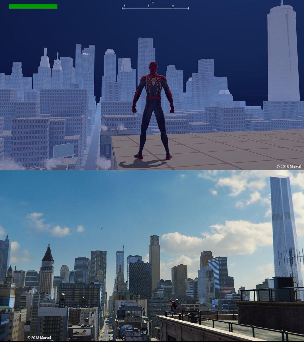 Ранний прототип игры - Marvel's Spider-Man