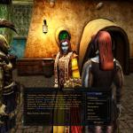 Elder Scrolls 3: Morrowind Ординатор разговаривает с Меридой, а она в это время повернула голову в сторону данмерки-аристократки