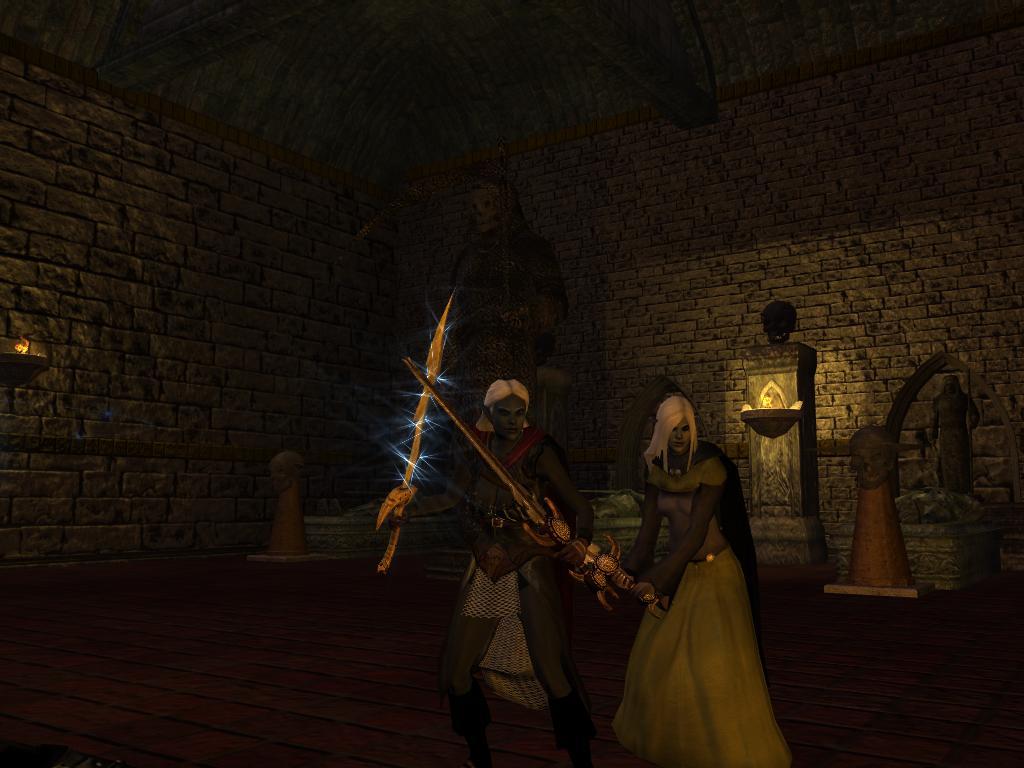 Серебряный меч Гит вновь перешел в собственность Вирны - Neverwinter Nights 2