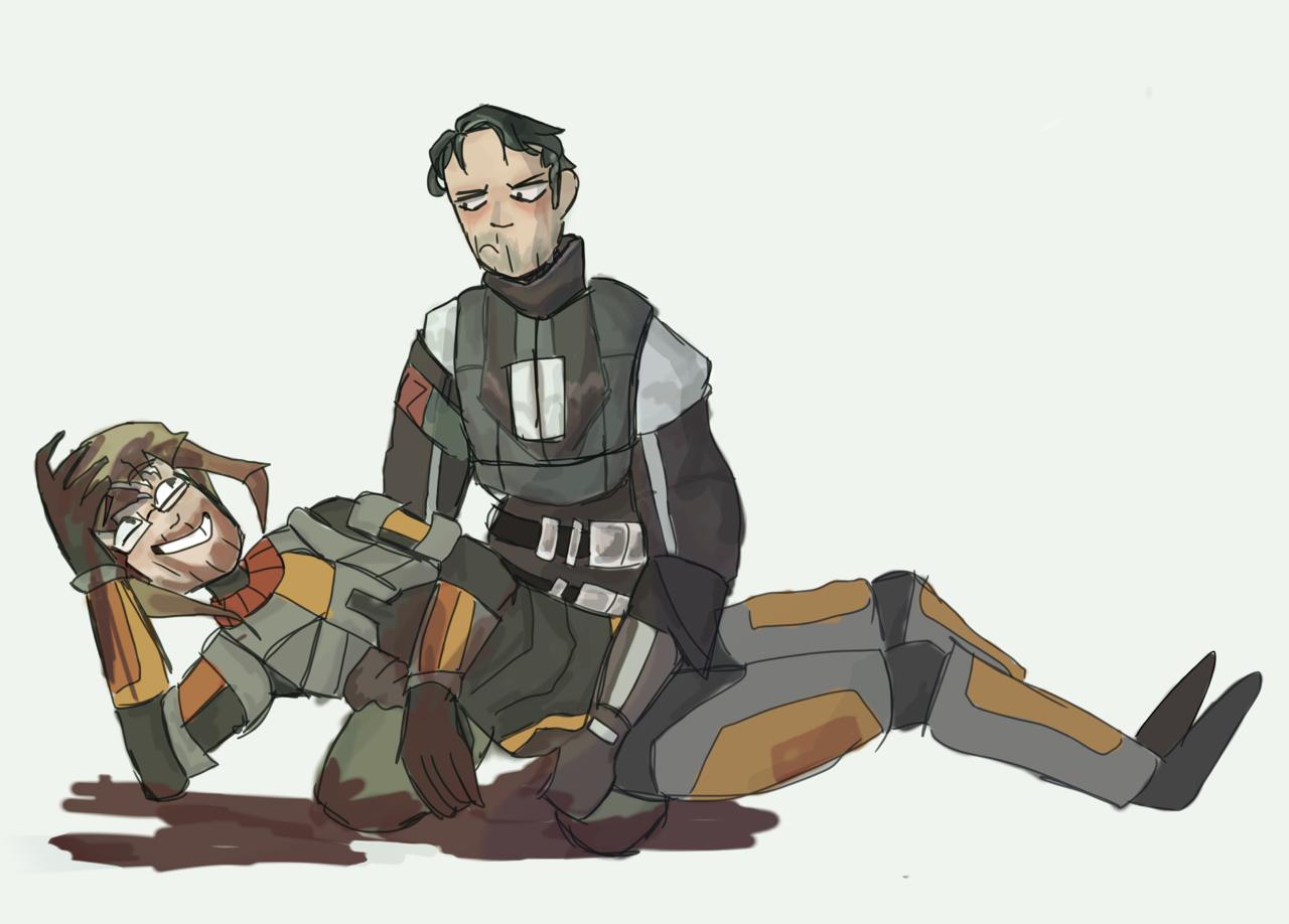Гордон и Барни - Half-Life 2 Арт, Персонаж, Юмор