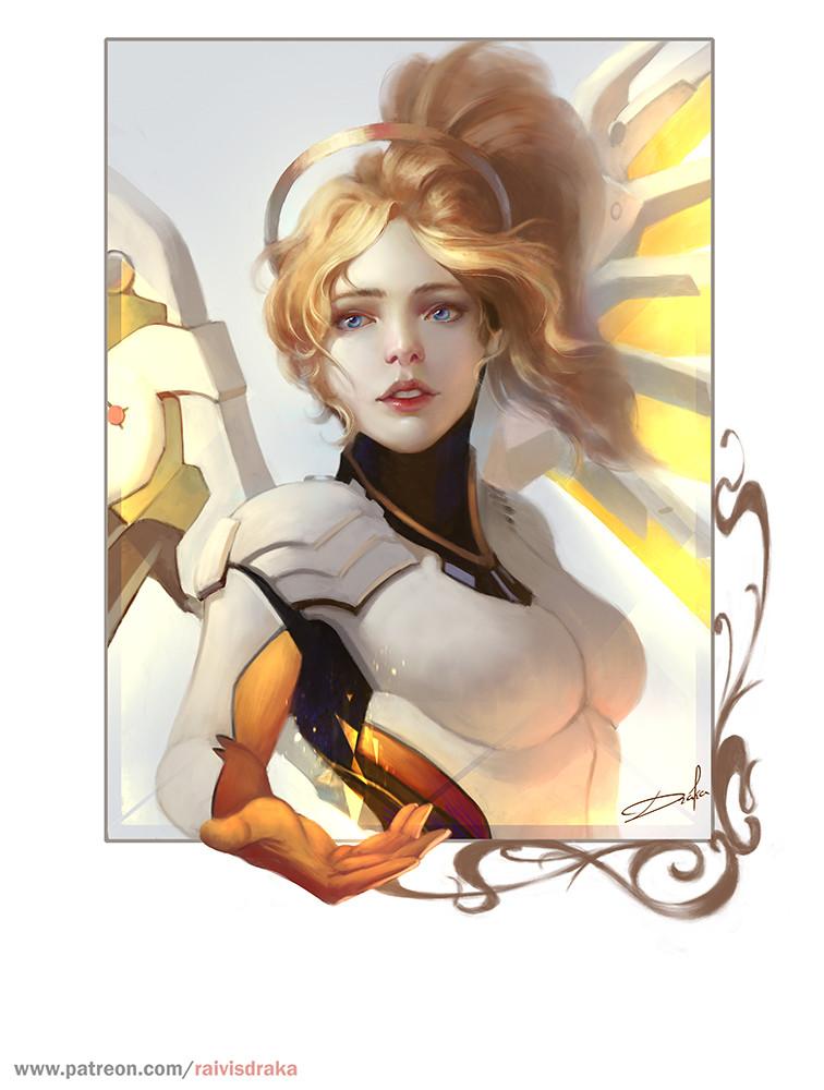 Ангела - Overwatch Арт