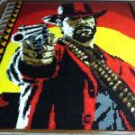 Red Dead Redemption 2 Артур Морган из 29375 доминошек: фанат Red Dead Redemption 2 собрал полотно к выходу игры